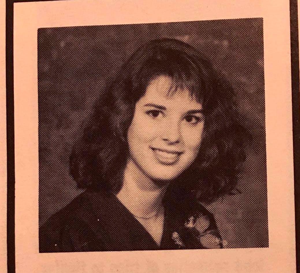 A yearbook photo from the class of 89. Const. Heidi Stevenson graduated from Dr. John Hugh Gillis Regional High School in Antigonish