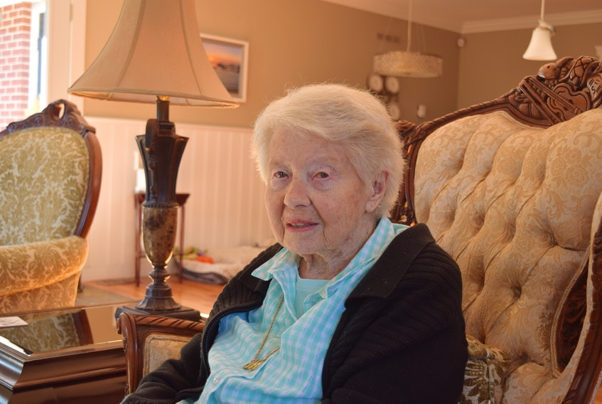 WW2 Veteran Eileen Appleton, 99, voted in Canada's 43rd Federal election in her home riding of Central Nova.