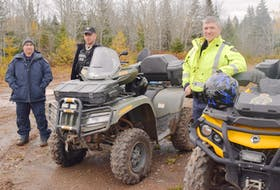 A media day was recently held in Pictou County to highlight the importance of ATV safety. From left are RCMP Const. Skipper Bent, conservation officer Stephen Fraser and RCMP Cpl. Greg Deagle.