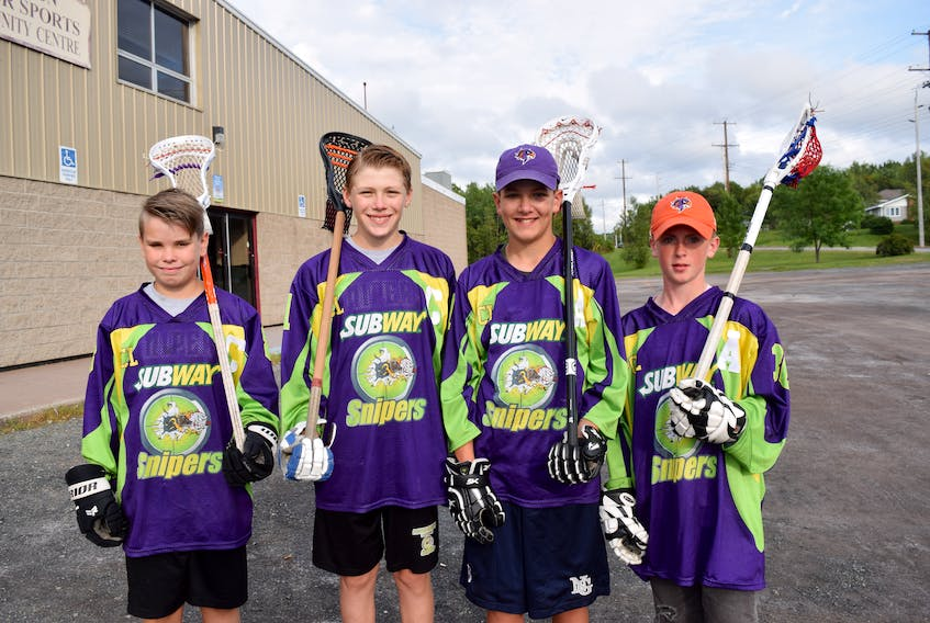 These four lacrosse players from Pictou County competed at the seventh annual Junior National Lacrosse League Tournament on Aug. 22-25.