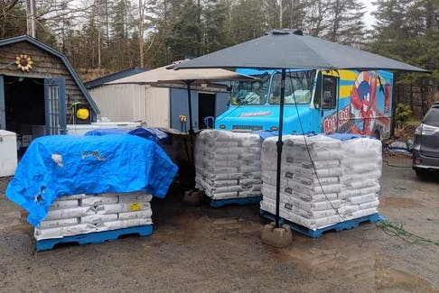 Through their sponsor a bag program Back East Seafood has been able to deliver close to 1000 pounds of flour to the Antigonish Food Bank.