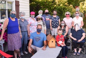 United We Stand Pictou County met for the first time together after six months of sewing masks and distributing them as a team.