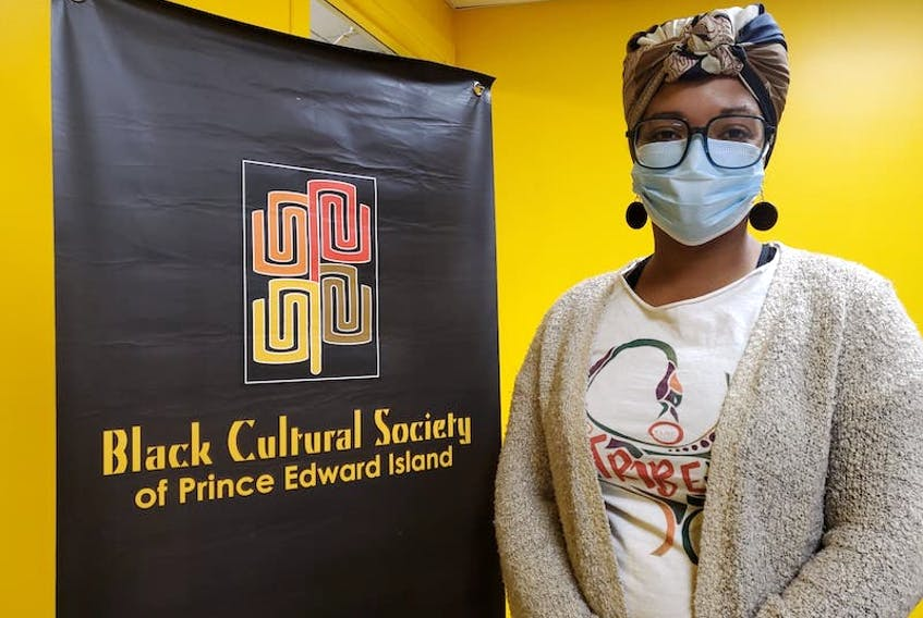 Tamara Steele, executive director of the Black Cultural Society, is shown in her new office in the Atlantic Technology Centre in Charlottetown.