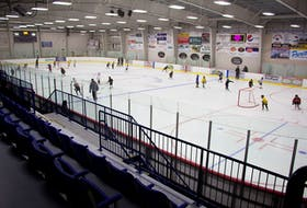 Skaters enjoy some ice time at the Cavendish Farm Wellness Centre in Montague.