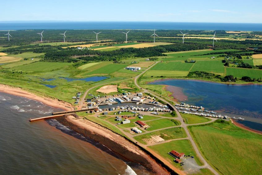 Photo of the Eastern Kings Wind Farm. –Photo taken from Wind Energy in EK Facebook page/Copyright 2007 Ron Garnett - AirScapes.ca
