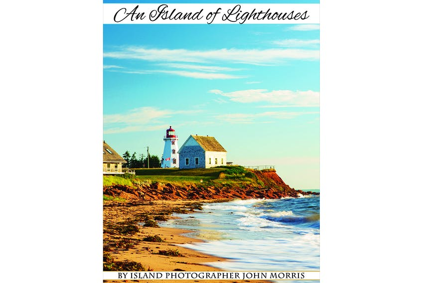 """The cover of the """"An Island of Lighthouses"""" book by Island photographer John Morris."""