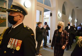 Lt.-Gov. Antoinette Perry arrives to close the fall session of the Legislature on Friday. The session saw the passage of the biggest capital budget in P.E.I.'s history, as well as a 28 government bills in all.