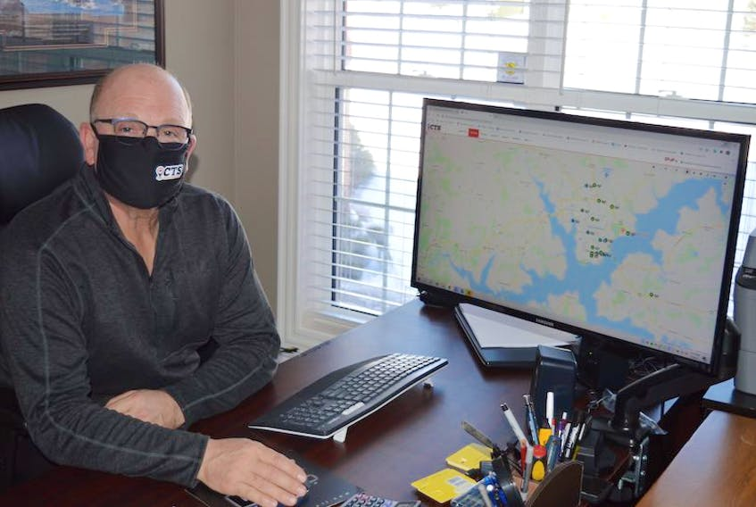 Doug MacDonald, vice-president of operations for Charlottetown-based Canadian Tracking Solutions, said the company provides GPS technology that can track everything about a vehicle's movements.