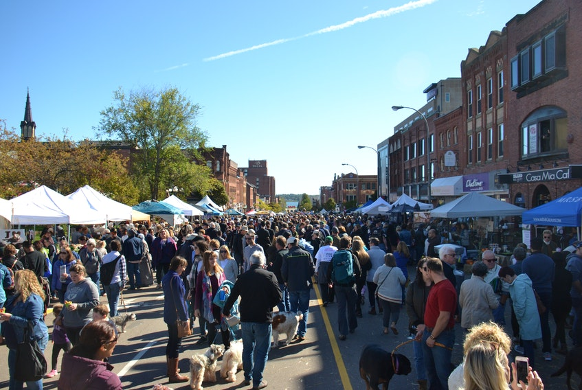 Hundreds from across P.E.I. gather for Farm Day in the City on Queen St. in Charlottetown on Oct. 6.