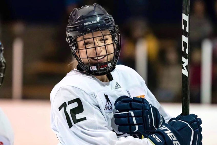 Defenceman Emma Martin can often be seen with a smile while around the rinks.