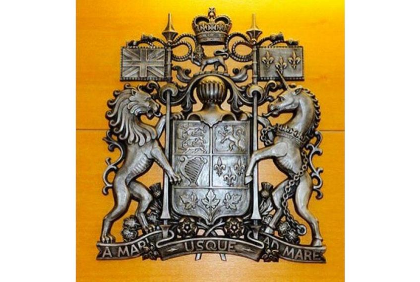 The crest at Prince Edward Island Supreme Court.