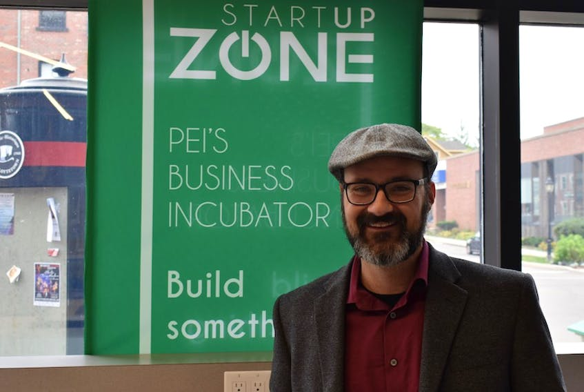 Sandy Slade, founder and board member of ADHD P.E.I., takes a break from filming some promotion videos at the Startup Zone in downtown Charlottetown. The incubator was instrumental in helping ADHD P.E.I. continue to grow.