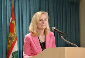 Heather Morrison, P.E.I.'s chief health officer, outlined new guidelines for self-quarantine for Island residents during a news briefing Monday. The Province is urging all individuals who have returned from travel outside of Canada to monitor for symptoms of the COVID-19 virus. Stu Neatby/THE GUARDIAN