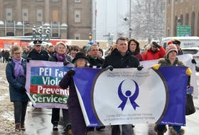 Close to 100 Islanders, including Premier Dennis King, took part in the Walk in Silence for Victims of Family Violence. The event was organized by the Premier's Action Committee on Family Violence Prevention. Stu Neatby/THE GUARDIAN