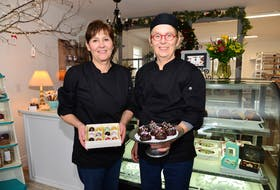 Sisters Jane Woodley, left, and Sue Humby, recently opened the Jane & Sue Chocolate shop in Stanley Bridge on St. Mary's Road.