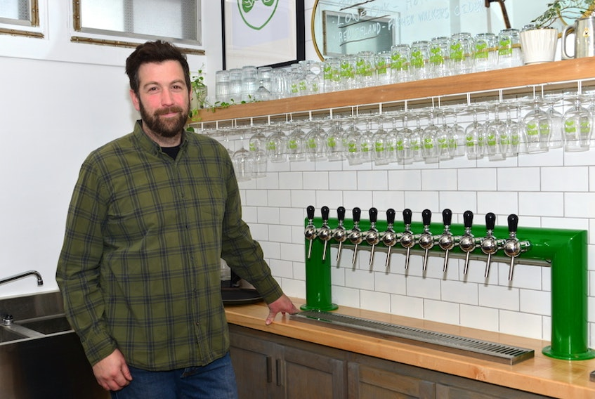 Bryan Carver opened the Village Green taproom and nano-brewery on Oct. 9 in Cornwall.