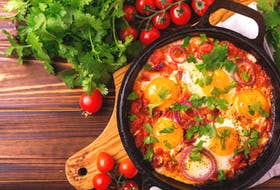 """Food columnist Margaret Prouse provides a Shakshuka recipe to mix up the weekly cooking routine. The word Shakshuka literally  means """"all mixed up"""" in Hebrew. It is an egg-based dish that is widely served for breakfast in some Middle East countries."""