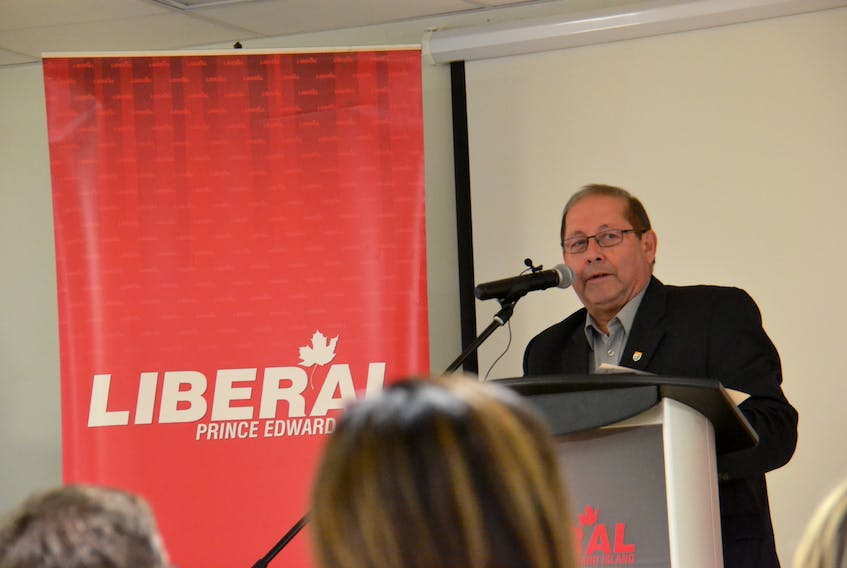 Liberal interim leader Sonny Gallant speaks to members at the party's annual general meeting on Saturday. The party will undertake a competitive leadership race beginning in the new year. Stu Neatby/THE GUARDIAN
