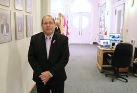 Third Party Leader Sonny Gallant, shown in the P.E.I. legislature prior to COVID-19 health restrictions, says his party will be focusing on holding the government to account rather than collaboration going forward.