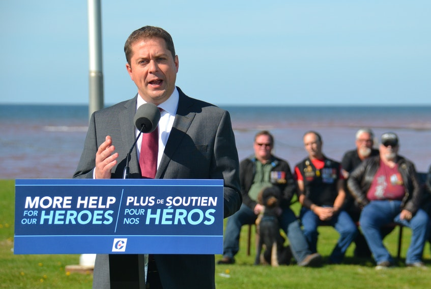 Conservative Leader Andrew Scheer announced Sunday in Prince Edward Island that a Conservative government would commit to clearing the backlog of Canadian military veterans' benefit applications within 24 months. Scheer says this will require a significant increase in Veterans Affairs staffing levels.
