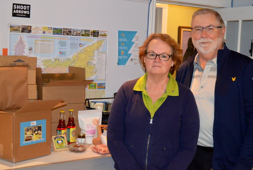 Bill and Mary Kendrick, who operate Experience P.E.I. out of their Stratford home, have had to adjust like many businesses across the province. Since they can't sell experiences to tourists here this summer, they are offering to send would-be visitors a taste of P.E.I. right to their front door.
