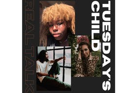 Daniel Butterfield (Vince The Messenger) and Zaneta Ambassa are pictured with award-winning P.E.I. singer/songwriter KINLEY in this promotional image for her new video, Tuesday's Child.
