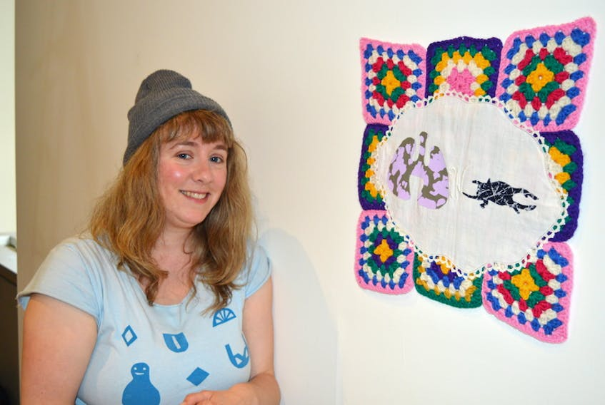 Mimi Stockland is one of the featured artists whose work is part of the new Confederation Centre Art Gallery exhibition, Give Me Shelter, which profiles the work of 13 emerging artists in St. John's, N.L. The exhibition is curated by Pan Wendt, curator at the centre.