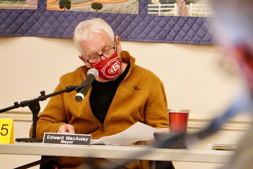 Three Rivers mayor Edward MacAulay attended a committees of council meeting at Kings Playhouse in Georgetown on Jan. 25.