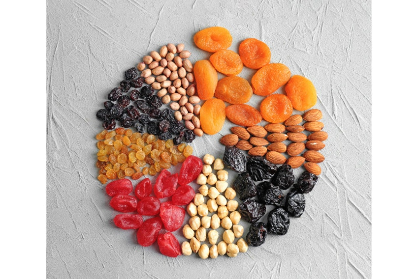 Healthier snack options include nuts, raisins and dried fruit, says food columnist Margaret Prouse.