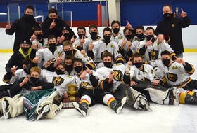 The Charlottetown Bulk Carriers Knights won the P.E.I. major under-18 hockey championship Saturday night at Credit Union Centre in Kensington. The Knights defeated the Kensington Monaghan Farms Wild 9-2 to complete a four-game sweep in the best-of-seven series.