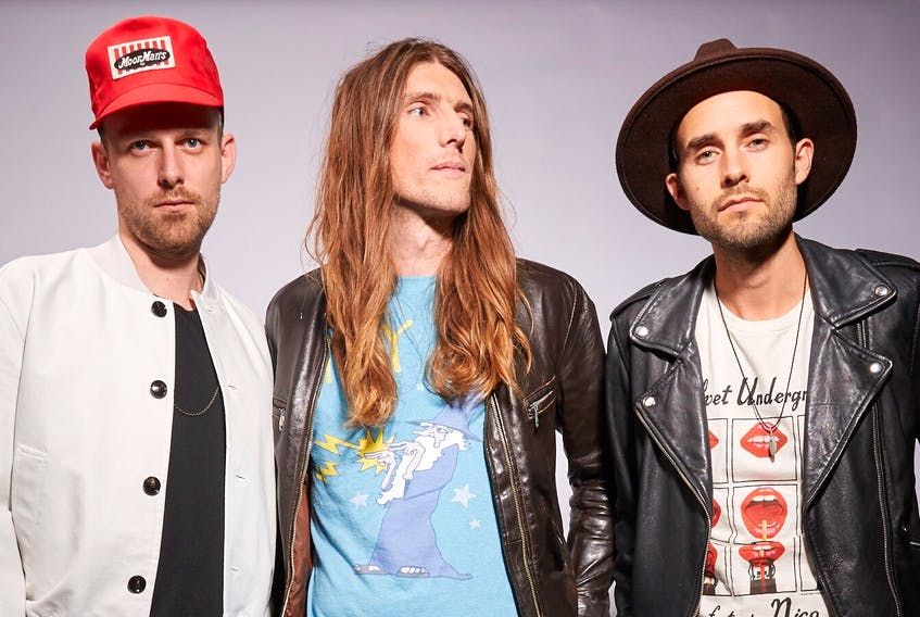 """The East Pointers are excited about releasing their new CD, """"Yours to Break"""", at the Confederation Centre of the Arts in Charlottetown today. The band, which includes Jake Charron, left, Koady Chaisson and Tim Chaisson will take to the Homburg Theatre stage at 7:30 p.m. The concert is sold out."""