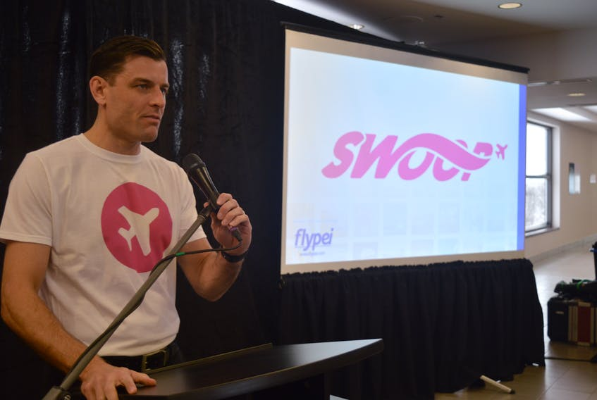 Doug Newson, chief executive officer of the Charlottetown Airport Authority, announced Thursday that WestJet's new low-cost airline, Swoop Airlines, will begin non-stop service to Charlottetown on June 27.
