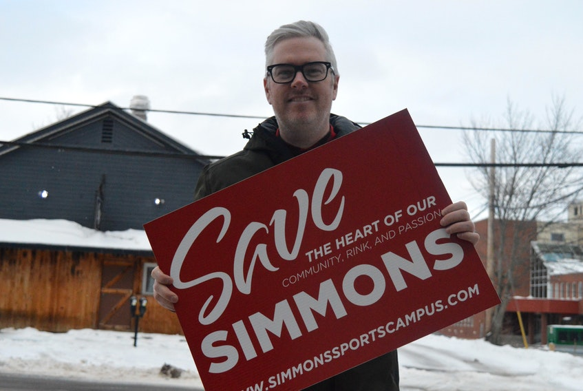 Mark Fisher, who is with the Friends of Simmons group, says he's more optimistic now than he was before that Simmons Sport Centre will be rebuilt on the existing site.