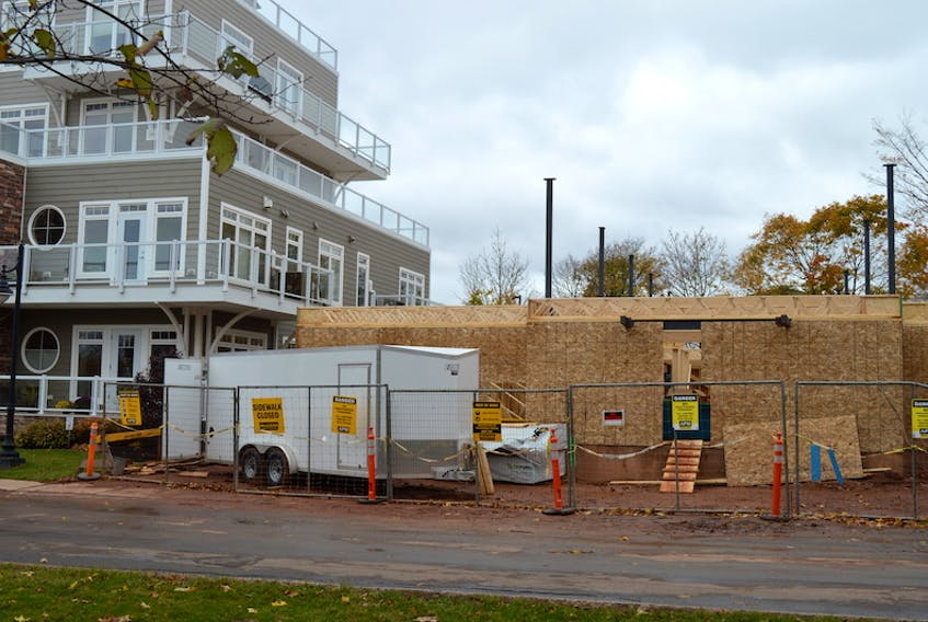 Construction of a 23-micro-unit apartment building is underway at 55 Richmond St. in Charlottetown, next to the Rochford Condominiums at 41 Richmond St.