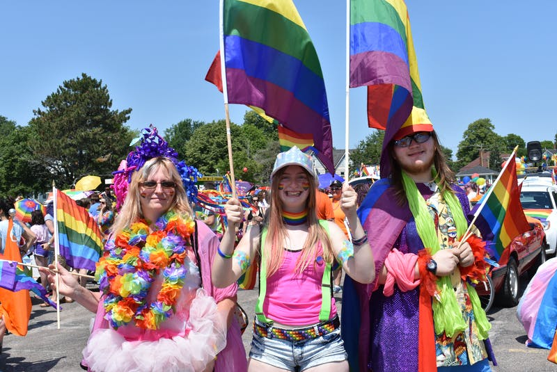 Ivory Jansen, left, waits with her mom Angel and brother Drake take part in the Pride parade in Charlottetown in this file photo.- Michael Robar