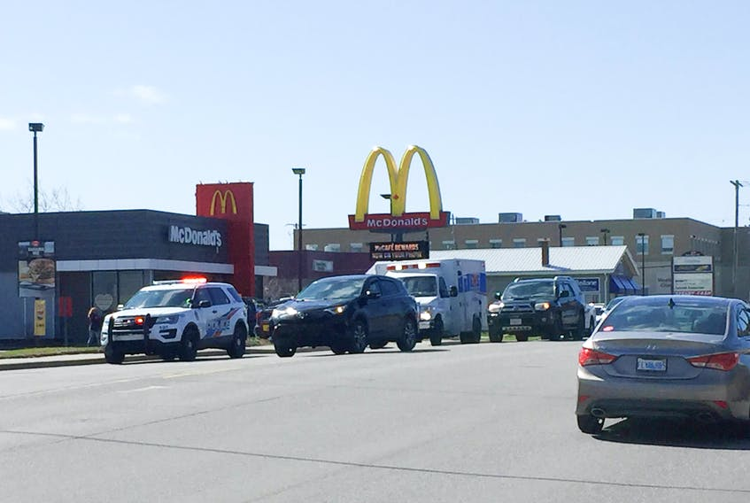 Site where a pedestrian crossing a McDonalds driveway exit was struck by a vehicle and later died on May 2, 2019. In two years there have been 15 pedestrian-vehicle collusions in New Glasgow and two fatalities on East River Road.