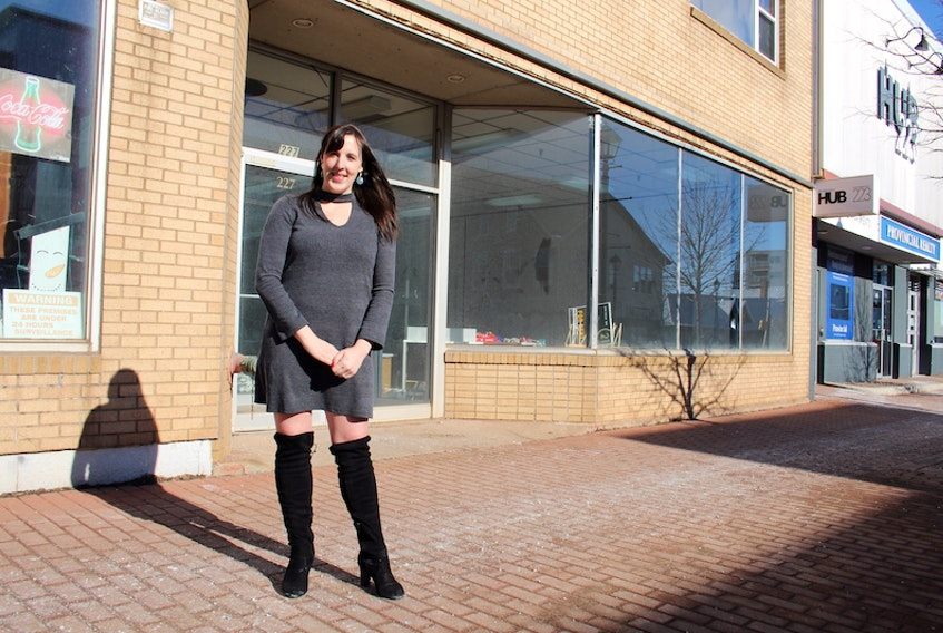Shawna Perry, owner of Summerside's Little Black Dress, stands in front of her new retail location at 227 Water St. Perry is moving the business because of the need for more space.