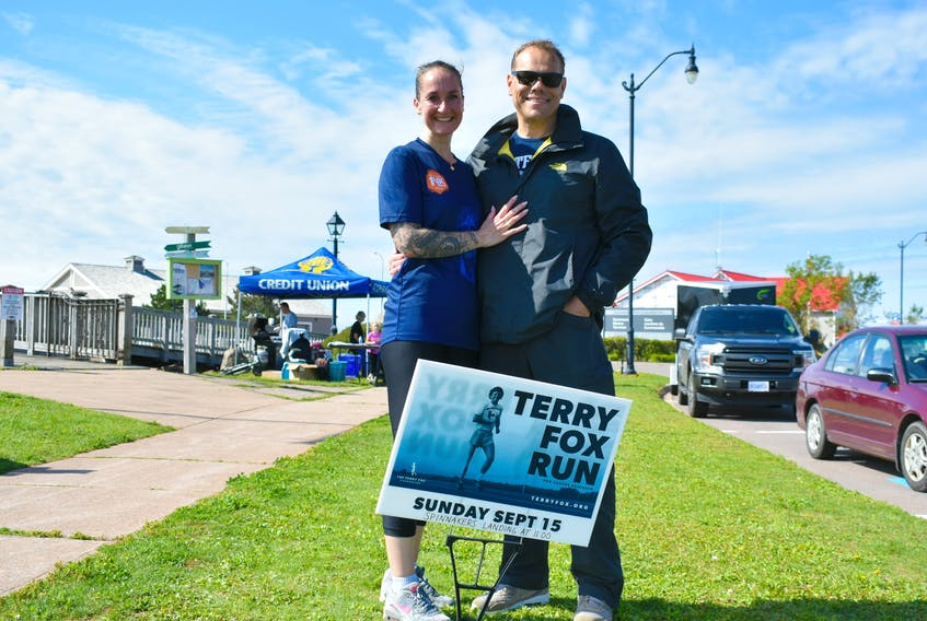 Martine and Pieter Kuijper stumble upon Terry Fox's legacy everywhere they travel in Canada. On Sunday, the couple heard about the Terry Fox Run in Summerside and Martine jumped at the opportunity to be involved with the worthy cause.