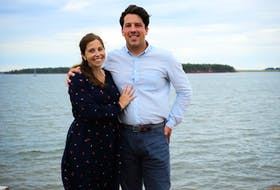 Green Party candidate for Egmont Alex Clark and his wife Pascale Clark.