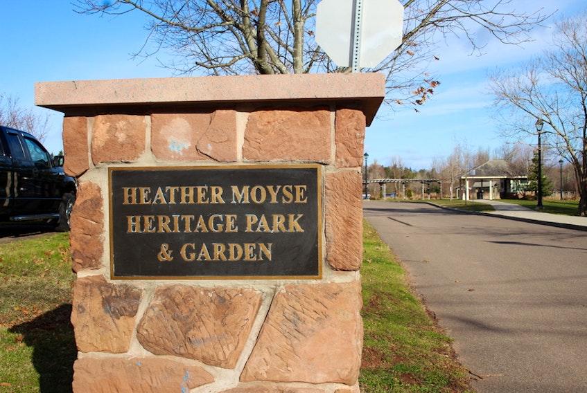 The Ottawa Street entrance to Heather Moyse Heritage Park.