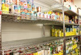 It takes a lot to fill the shelves and keep them stocked at the Summerside Salvation Army Food Bank. Millicent McKay/Journal Pioneer