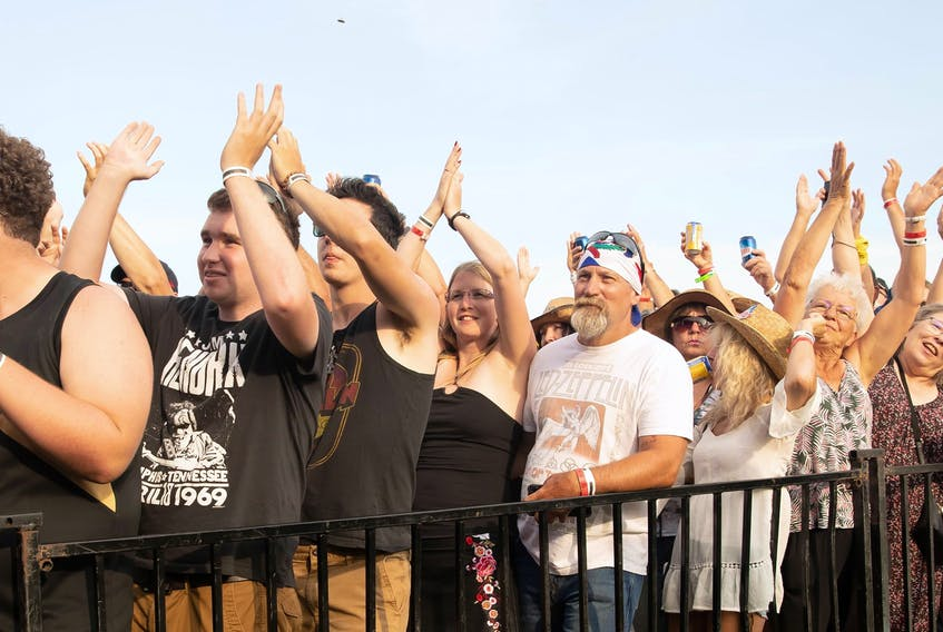 Crowds came to rock on Saturday at Green Park in Tyne Valley for the Rock the Boat Festival. Mike Bernard Photography/ Journal Pioneer