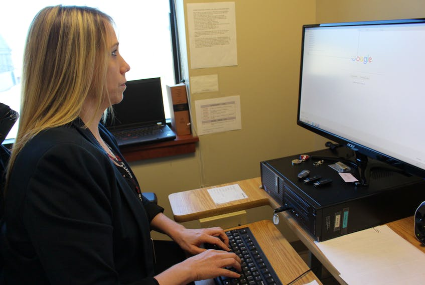 Corporal Jennifer Driscoll of the Summerside Police Service begins a search for an anonymous photo sharing website.