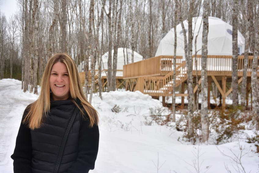 Sheila Arsenault, of Mount Tryon, has been the owner/operator of Treetop Haven, which offers geodesic dome accommodations, for nearly a year. It's been a challenging, but rewarding, year for her.