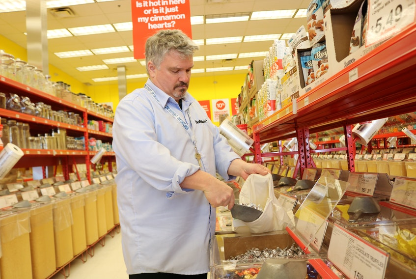 Bill McGregor, franchisee of BulkBarn in Summerside, has seen a steady growth of customers bringing their own food storage options rather than using plastic bags. His store recently stocked cloth bags to store rice, grains, pastas and other goods.
