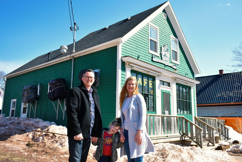 Greg and Marly Anderson with their daughter, Piper, are ready to celebrate an exciting new chapter this year with the purchase of a 150-year-old landmark in Victoria-by-the-Sea.