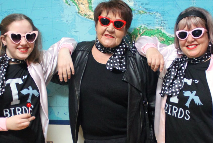 Fans of the movie 'Grease' dressed to the nines at the first sing-along of the season at the College of Piping and Celtic Performing Arts of Canada, in Summerside. The next show will be May 31 when the college presents 'Beauty and the Beast.'