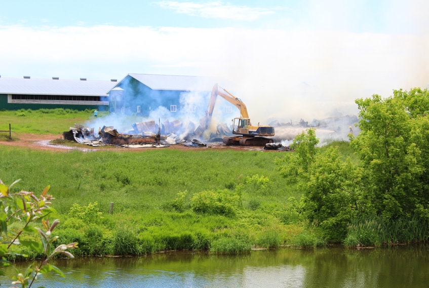 A large barn fire in Breadalbane killed more than 150 sheep Friday afternoon. No people were injured.