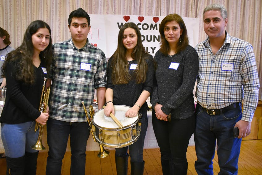 Bassam Antoun, from the right, along with his wife and family, Dima Bachour, Rosaline, Remi, and Nathalie.