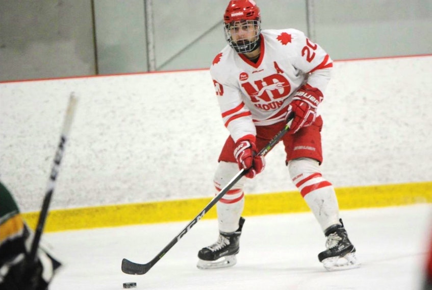 Notre Dame Hounds Brad Morrissey is from Seacow Pond, P.E.I.